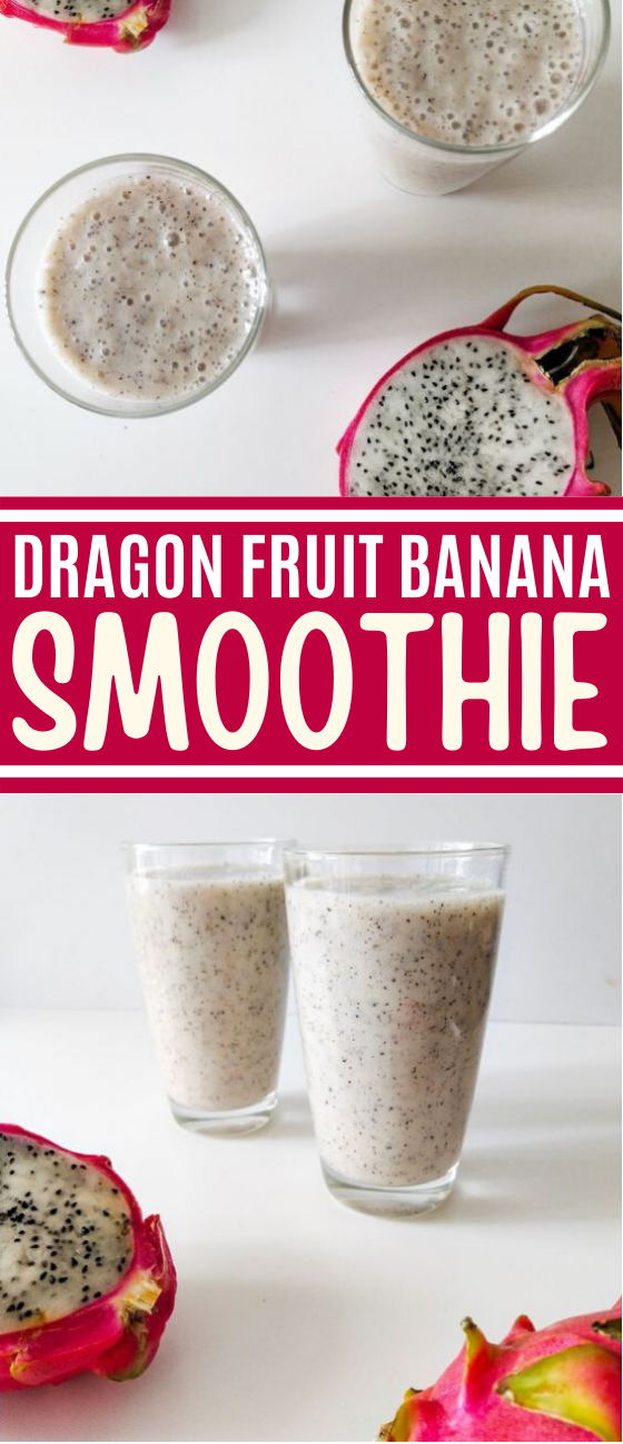 Banana & Dragon Fruit Smoothie #drink #healthy #smoothie #detox #breakfast