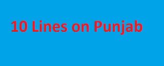 10 Lines on Punjab