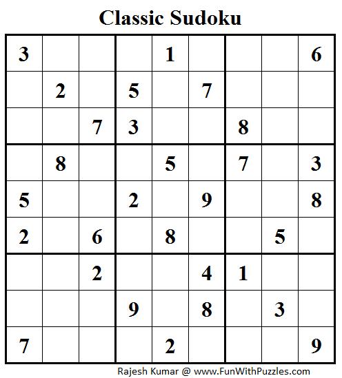 Classic Sudoku (Fun With Sudoku #42)