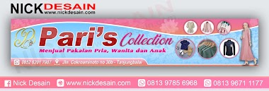 Contoh Spanduk / Plang Toko Pakaian Pink - Percetakan Tanjungbalai