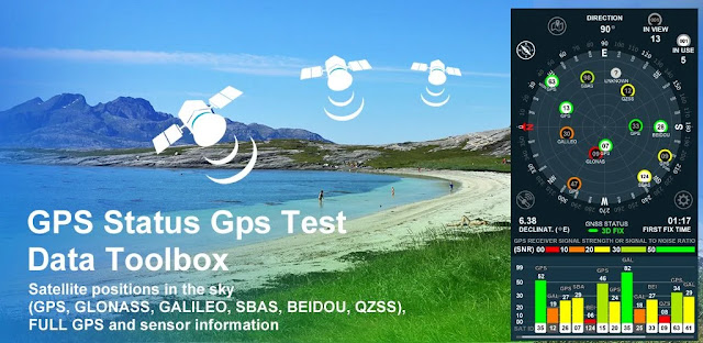 قم بتنزيل GPS Status Gps Test Data Toolbox 1.8 - أداة فحص GPS للاندرويد