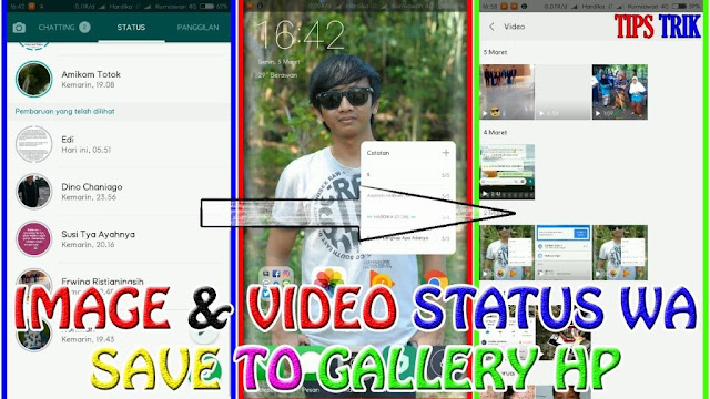 Cara Simpan (Download) Status Foto + Video Teman WhatsApp Ke Galeri Hp | TIPS TRIK ANDROID www.hardikakurniawan.com