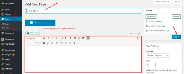 Cara Membuat Postingan Baru di Menu Halaman Website