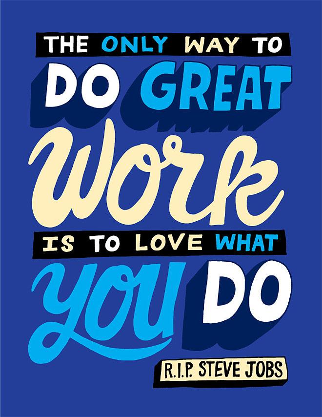 Inspirasi desain tipografi terbaik dan terbaru - RIP Steve Jobs by CHRIS PIASCIK