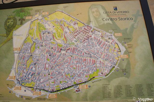 Piantina del centro storico di Viterbo