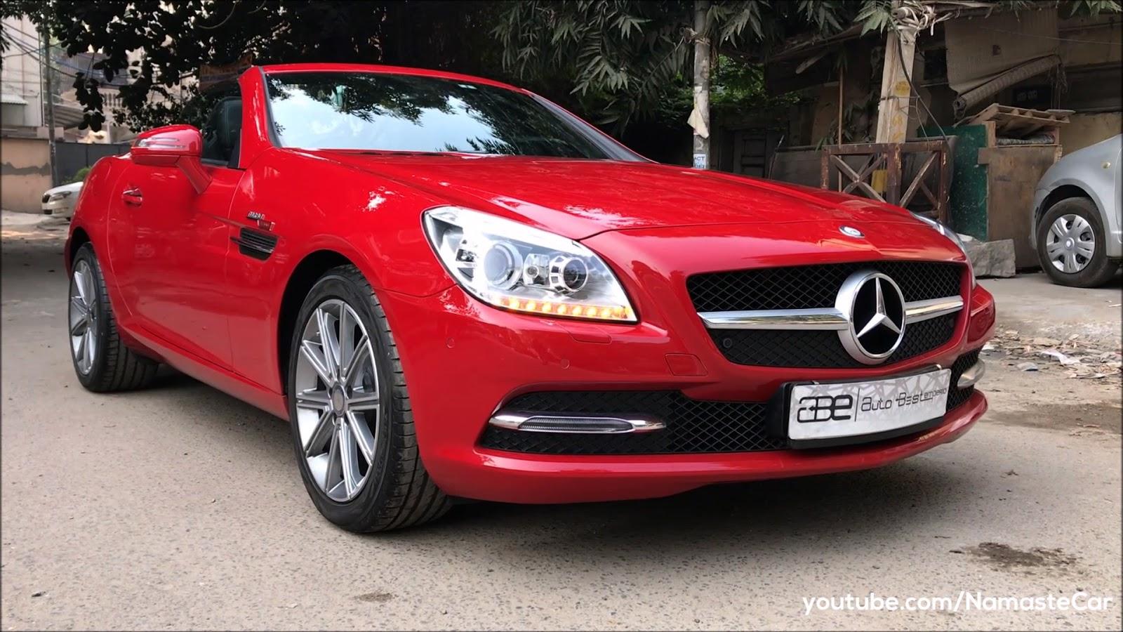Times Car: Mercedes-Benz SLK 350 BlueEFFICIENCY hindi review by Namaste Car