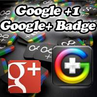 Google +1 button and Badge for blogger