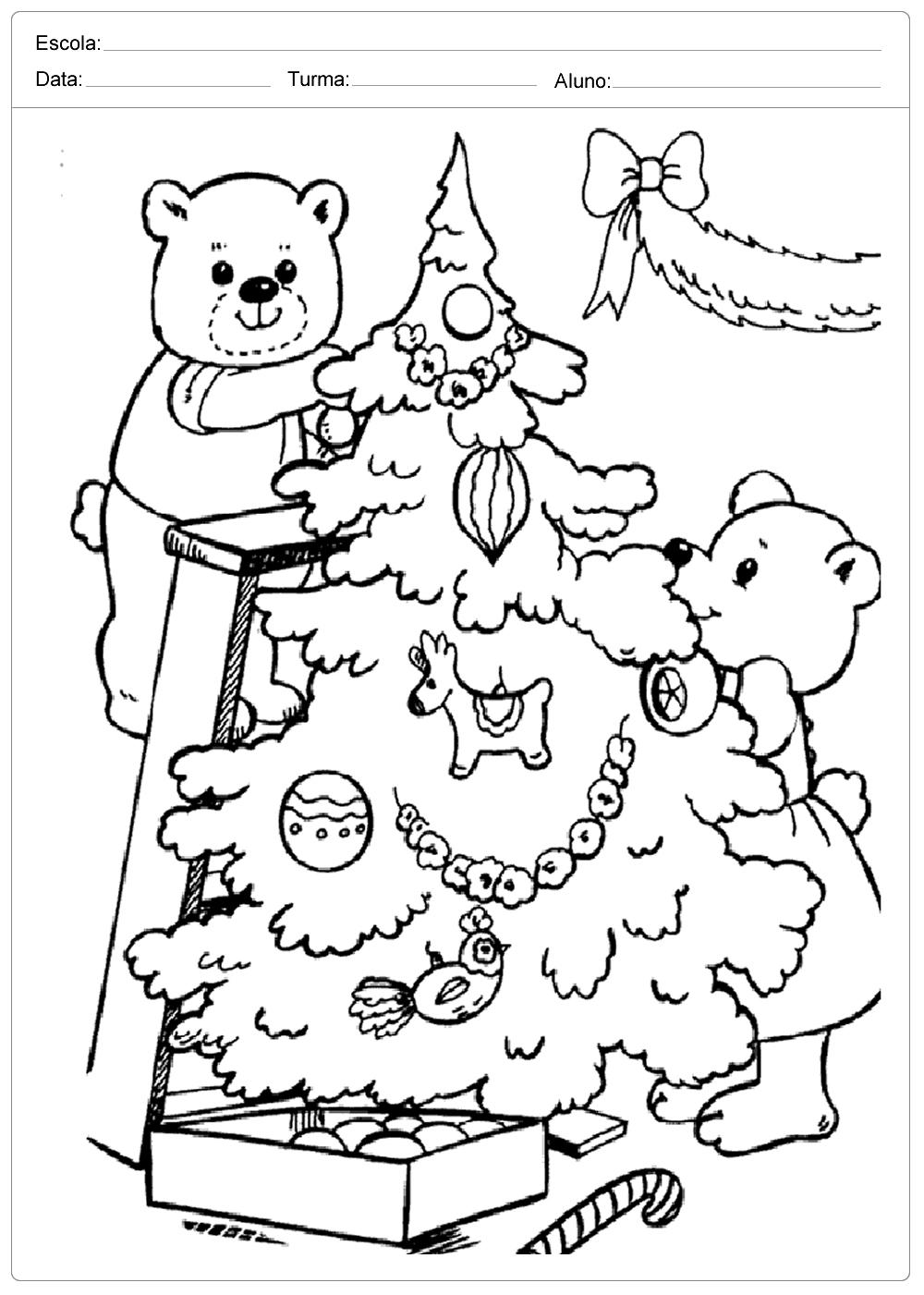 Desenhos De Natal Para Colorir E Imprimir So Escola