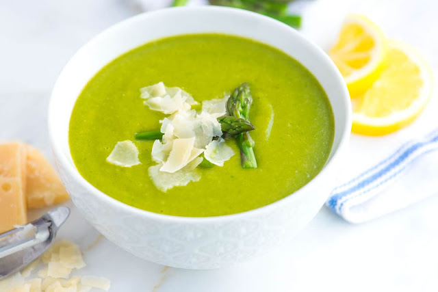 Guilt-Free Asparagus Soup
