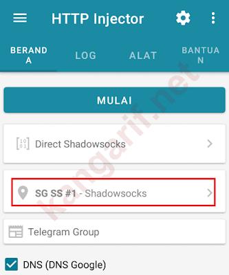 cara menggunakan akun shadowsocks server http injector