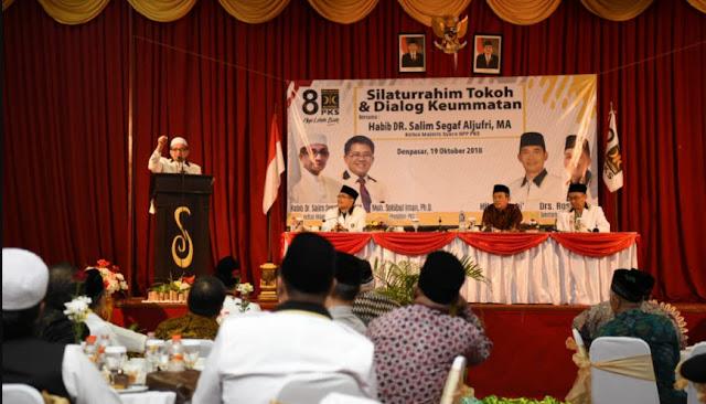 Ketua Majelis Syuro PKS Dialog Hangat dengan Ratusan Tokoh Islam Bali