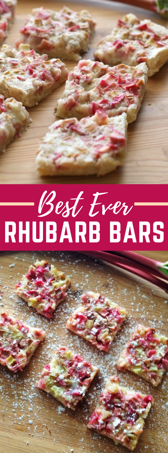 Rhubarb Bars #desserts #cake