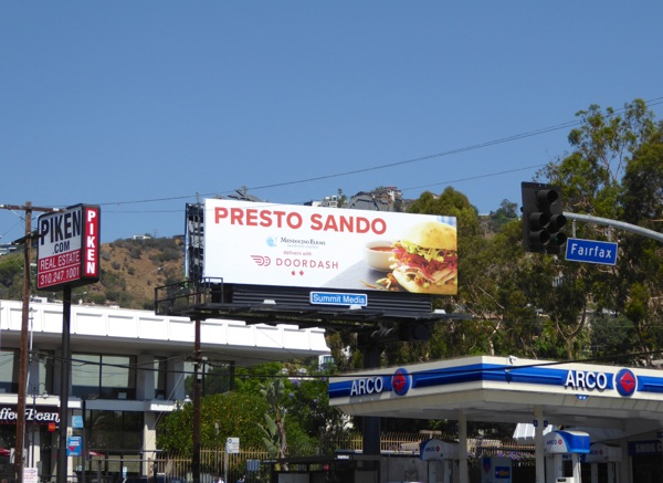 DoorDash Presto Sando billboard