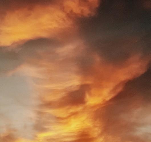 The sky is in fire