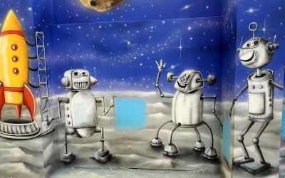 Malowanie sali zabaw, artystyczne malowanie ścian, mural 3d, malowanie obrazów na ścianach dla dzieci