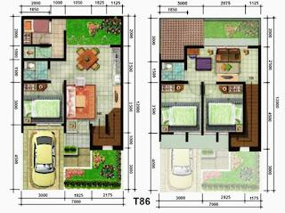 home design minimalist 2 floor type 45