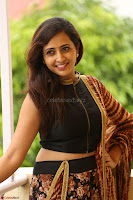 Lasya looks super cute in black choli Saree at Raja Meru Keka Press Meet ~  Exclusive 061.JPG