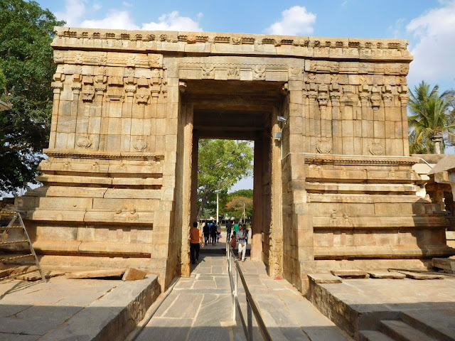 The majestic Temple Gateway, Bhoga Nandeeshwara Temple, Karnataka