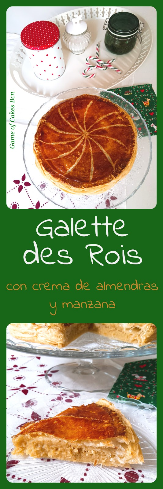 galette des rois ligera con crema de almendras y manzana game of cakes bcn