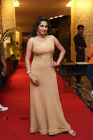 Actress Himaja Stills in Golden Spicy Long Dress at SIIMA Short Film Awards 2017 .COM 0304.JPG