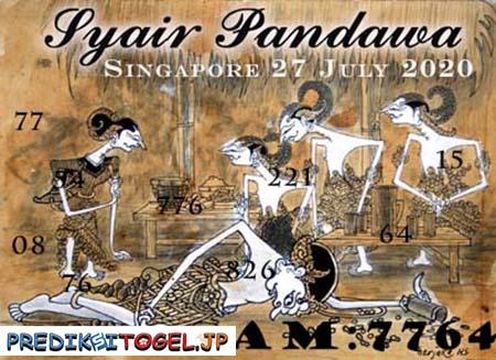 Syair Pandawa SGP Senin 27 Juli 2020