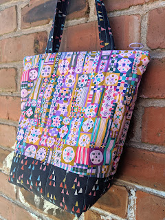 main body of patchwork fabric bag