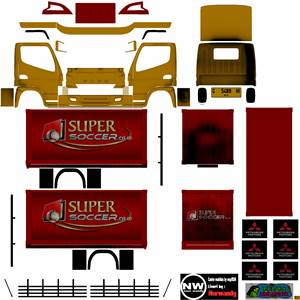 Livery Truck Canter Box Muhklas Super Soccer