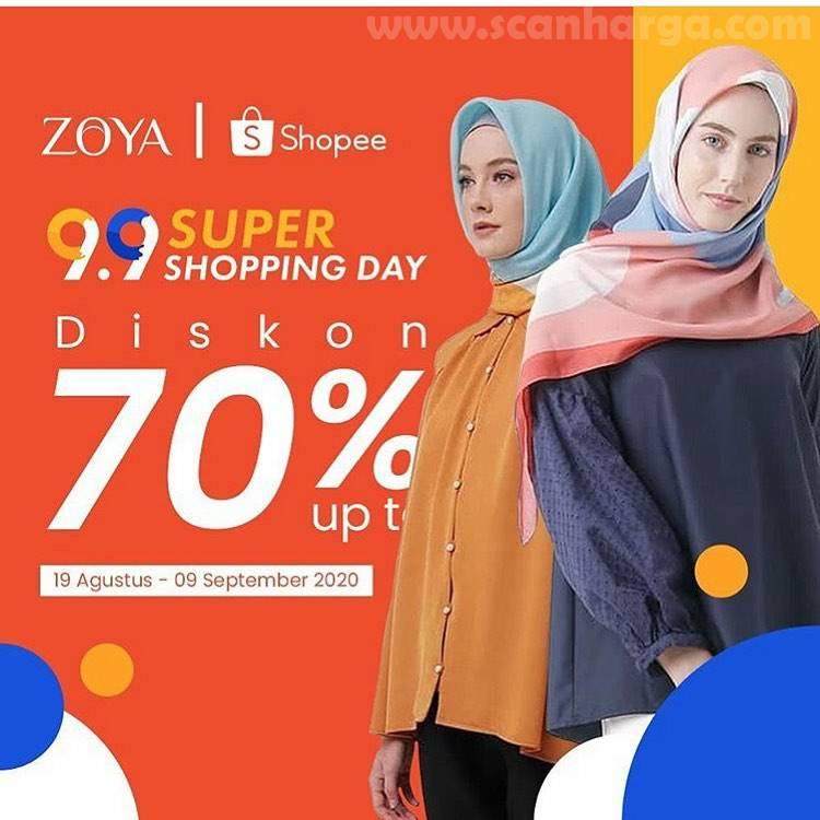 ZOYA Promo 9.9 Super Shopping Day Diskon 70% Semua Fashion di Shopee