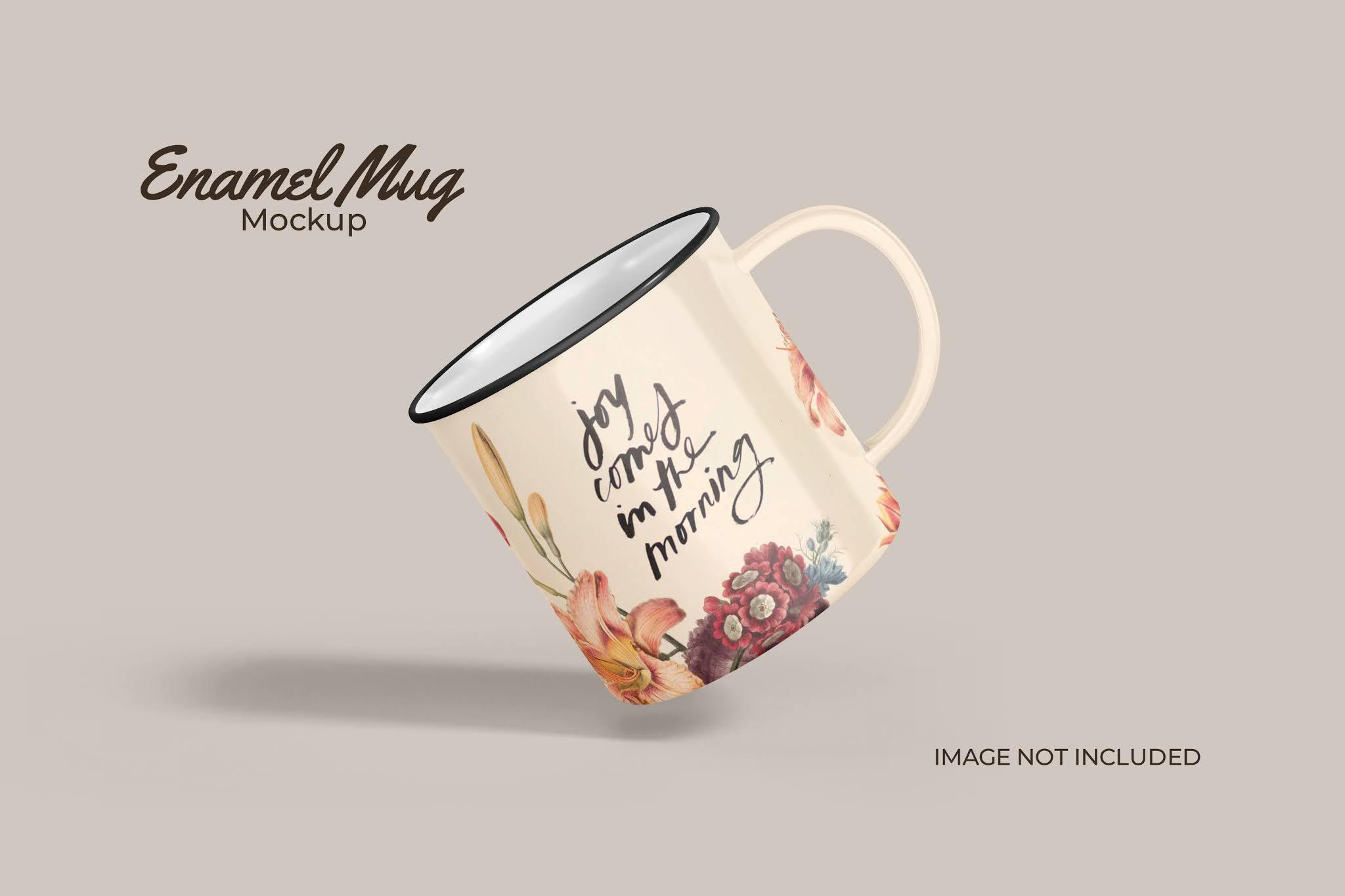 Classic Enamel Mug Mockup in PSD Format