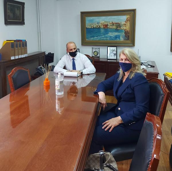 Συνάντηση της Δημάρχου Στυλίδας με τον Υφυπουργό Αγροτικής Ανάπτυξης