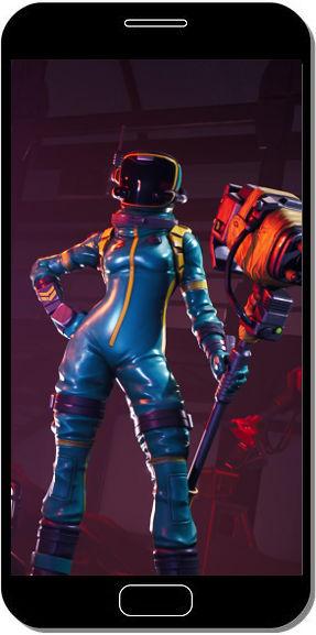 Fortnite Battle Royale Astronaute et sa Masse Puissante - Fond d'Écran en FHD pour Mobile