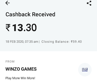 Earn For Paytm Winzo gold games