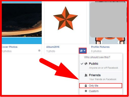 how to make albums private on facebook app