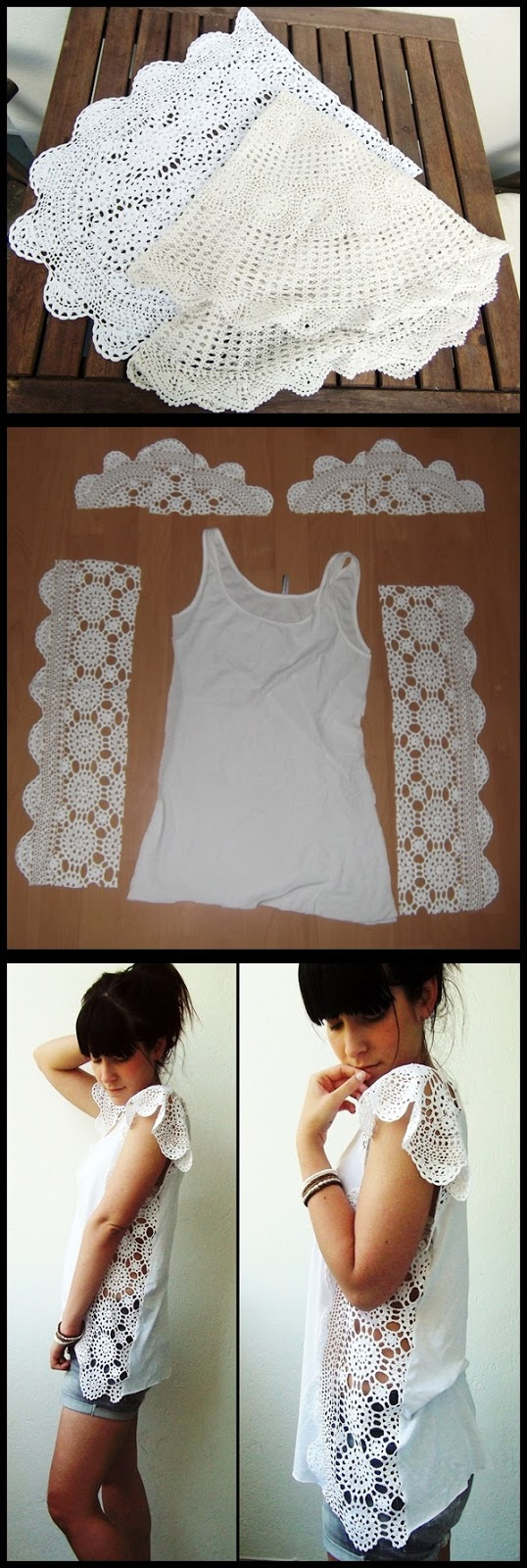 customizar una camiseta con croche