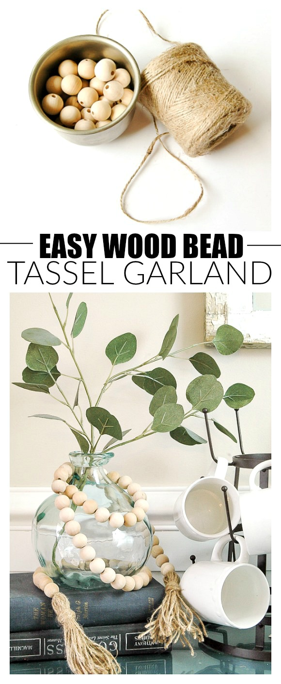 How to make an easy wood bead tassel garland