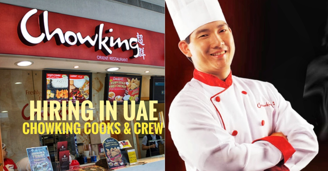 Hiring Pinoy Kitchen Cooks And Staffs For Chowking At Abu
