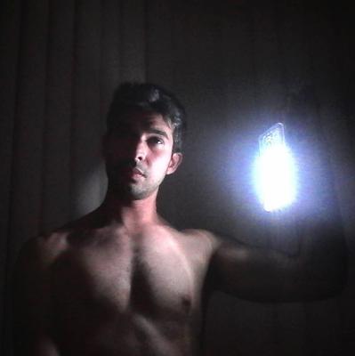 Selfie para instagram en un apagón.