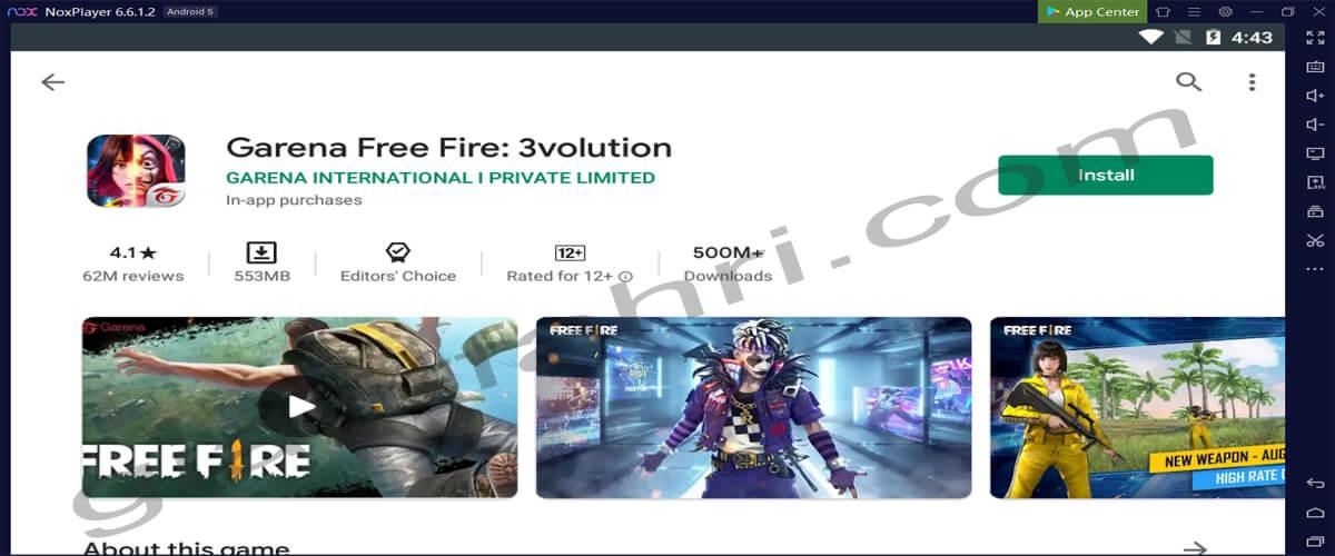 Cara Install Free Fire Di Nox