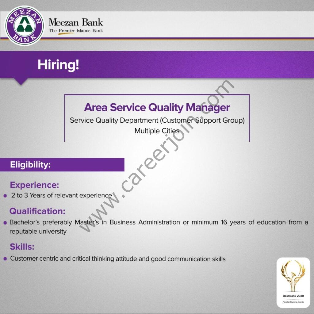 Meezan Bank Limited Jobs 2021 in Pakistan