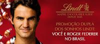 Promoção Dupla dos Sonhos Lindt 'Você e Roger Federer no Brasil'