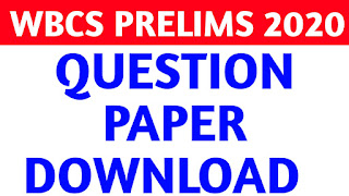 Wbcs Preliminary 2020 Question Paper Download pdf