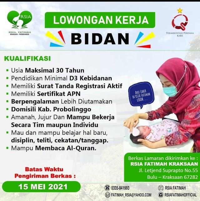 Loker Bidan RSIA Fatimah Probolinggo