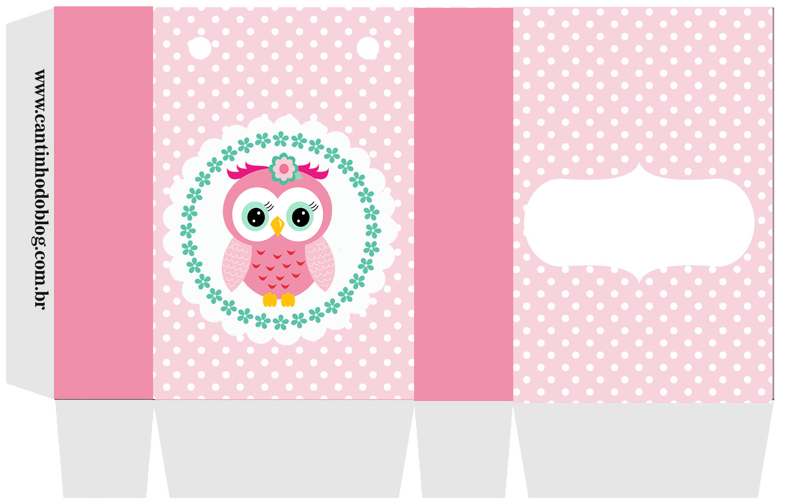 Pink Owl Sweet 16: Free Printable Boxes and Free Party Printable. | Oh ...