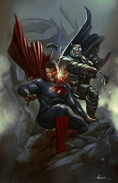 xryho batman vs superman dawn of justice art picture