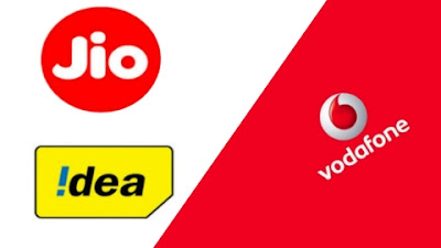 Jio and idea or Vodafone all plan
