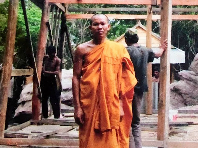 Eout Ang, Kem Ley's alleged murderer, during his time as a monk in 2014. Photo supplied