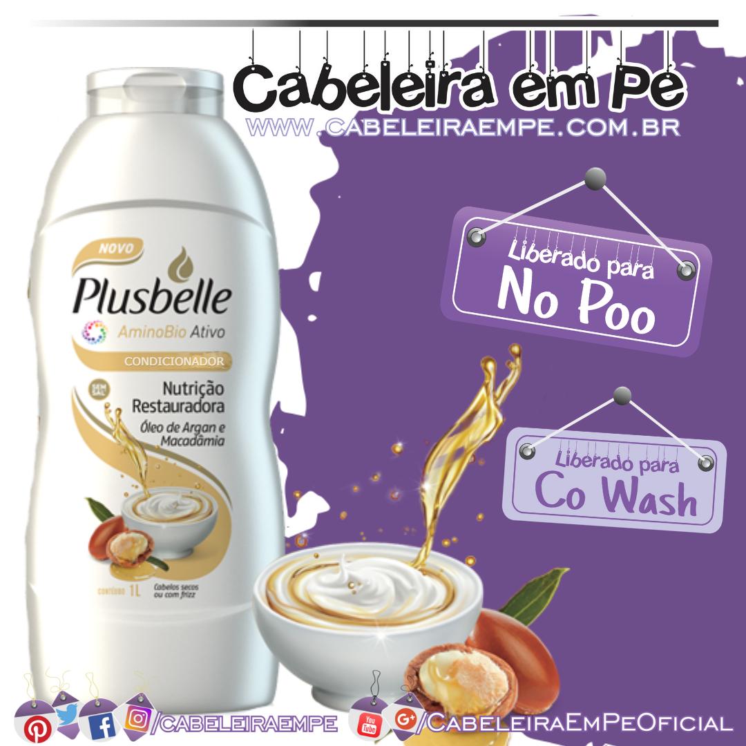 Condicionador Nutrição Reparadora (Argan e Macadâmia) - Plusbelle (No Poo e Co Wash)