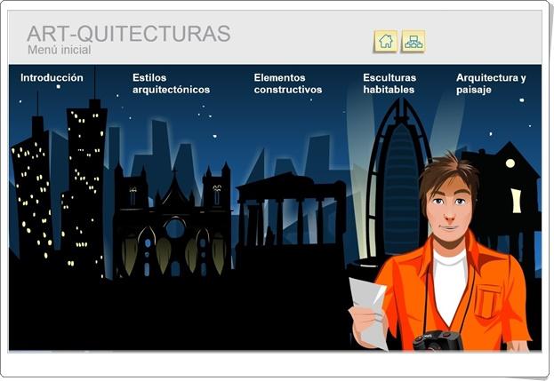 """Art-quitecturas"" (Aplicación interactiva de Educación Artística e Historia del Arte)"