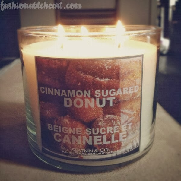 cinnamon sugared donut candle Slatkin & Co.