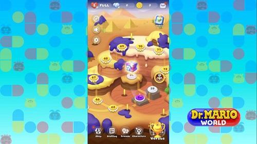Dr. Mario World có lối chơi nối 3 điểm, vốn rất là nổi tiếng trong vòng làng Game casual